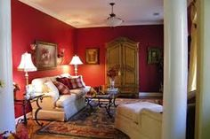 BM Raspberry Truffle (wall color) - used this in my dining room Paint Shades, Wall Paint Colors, Truffles, Decor Styles, Raspberry, Red And White, Burgundy, Dining Room, Bed