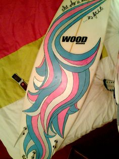 my board painted with posca pens  surfing, waves, beaches, surfboards, long-board surfing,   http://www.yuusurf.com