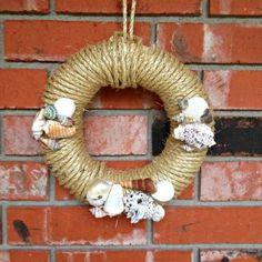 diy shell wreath