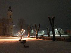 Tisovec - noc, zima