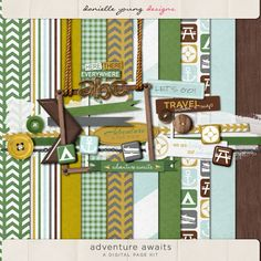 Oscraps :: Shop by Theme :: Themed/Occasion Kits :: Travel :: Adventure Awaits Page Kit
