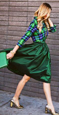 Gorgeous green midi