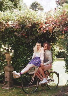 Just Cute! #Couple #love #bike #sweet #romance