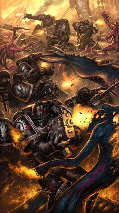 Space Marines vs. Tzeentch Chaos Daemons