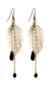 Feather Dusters with Rainbow Obsidian Drops