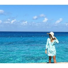 one of our favorite #islandgirl customers wearing our #seastartunic on #vacation #nofiltor amazing water color in our islands #onelove #islandsmiles #westindieswear
