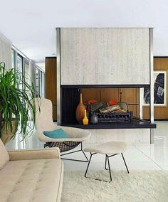 Mid-century fireplace. Inspiration for VX: Business. svbscription.com