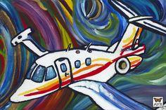 """Melissa Ayr - Ayr Plane Acrylic on Canvas  24"""" x 36"""" x 3"""""""