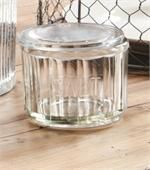 This would be great for keeping our course kosher salt in Vintage Style Glass Salt Cellar
