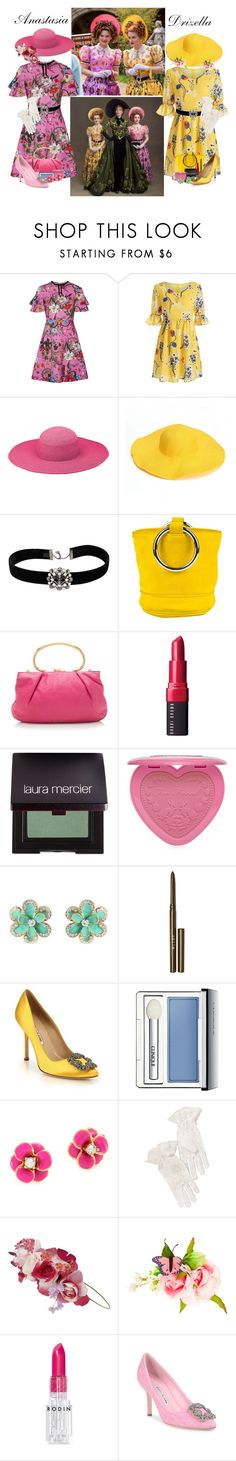 """""""Anastasia & Drizella"""" by allyssister ❤ liked on Polyvore featuring Gucci, Peter Grimm, Chanel, Simon Miller, Miu Miu, Bobbi Brown Cosmetics, Laura Mercier, Too Faced Cosmetics, Amrita Singh and Stila"""