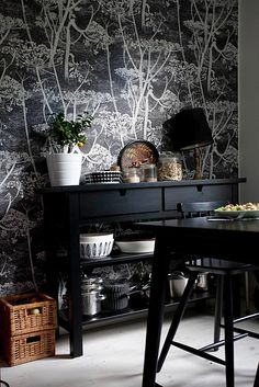 #salleàmanger Cow Parsley wallpaper by Cole and Son