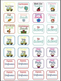 FREE Back to School planner stickers! FREE Back to School planner stickers! Teacher Planner Free, School Planner, Goals Planner, Planner Pages, Happy Planner, Planner Ideas, Life Planner, Filofax, Printable Planner Stickers