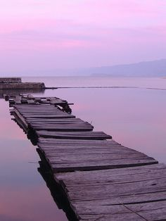 Lake Ohrid pier, Albania