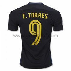 maillot de foot La Liga Atletico Madrid 2016-17 Fernando Torres 9 maillot extérieur
