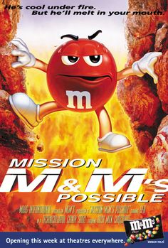 M&Ms poster illustration Candy Pictures, Cool Pictures, Cinema Posters, Movie Posters, M&m Characters, M Wallpaper, Brand Archetypes, M M Candy, Melt In Your Mouth