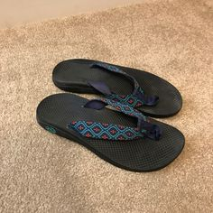 9907fa9a01a2 Shop Women s Chaco Blue Black size 7 Sandals at a discounted price at  Poshmark.