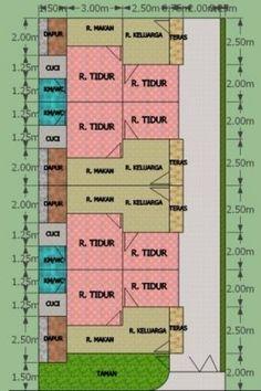 aslm.wr.wb..ustadz andan saya rencana mau bangun rumah kontrakan/petakan 4 petak atau 4 pintu di atas tanah ukuran 10 x 20 m2. nah gmana kisaran biaya yang diperlukan (perkiraan biaya daerah samarinda) dan kami mohon agar bisa di buatkan gambar desain yang bagus dengan konsep kenyamanan di dalam setiap ruang. trima kasih ustad andan Home Design Plans, Plan Design, Guest House Plans, 20 M2, Boarding House, Apartment Floor Plans, Simple House, Better Homes, Interior And Exterior