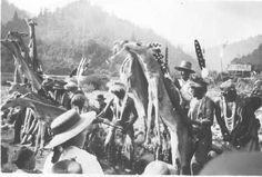 White Deer Skin Dancers at Katimin, California - Karuk - 1900