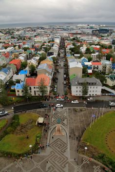 Reykjavik, Iceland - the view from the tower of Hallgrimskirja the largest church in Iceland