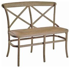 Cross Back Bench traditional dining chairs and benches