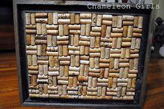 Someday Crafts: Guest Blogger Chameleon Girls | Wine Cork Cork Board - use same instructions to make trivets (eBay for corks)