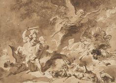 Jean Honoré Fragonard (French, Grasse 1732–1806 Paris) Rinaldo in the Enchanted Forest: ca. 1763 Brown wash over very light black chalk underdrawing 13 3/16 × 18 in. (33.5 × 45.7 cm) Purchase, Louis V. Bell, Harris Brisbane Dick, Fletcher, and Rogers Funds and Joseph Pulitzer Bequest; Guy Wildenstein Gift; The Elisha Whittelsey Collection, The Elisha Whittelsey Fund; Kristin Gary Fine Art Gift; and funds from various donors, 2009 Accession Number: 2009.236 Met
