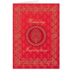 Elegant Damask Wedding - Invite / Greeting Card - sample design diy personalize idea