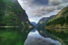 View of #Nærøyfjord . It is also known as Nærøyfjorden and this fjord is located in the municipality of Aurland in Sogn og Fjordane, #Norway . This fjord is a branch of the large #sognefjord .