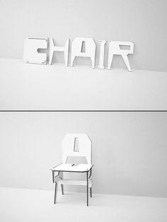 Joseph Kosuth  chair-typography