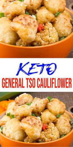 {Keto General Tso Cauliflower} Yummy low carb keto cauliflower everyone will love! No need to give up Chinese food on a ketogenic diet. Make this easy keto general tso recipe. Better than Chinese take out with this general tso cauliflower keto recipe. A great keto dinner recipes, keto snacks or keto lunch idea. BEST keto friendly oven baked general tso cauliflower. Learn how to make a quick recipe to please any crowd. #dinner #lowcarb - Click for this favorite keto food meal :)