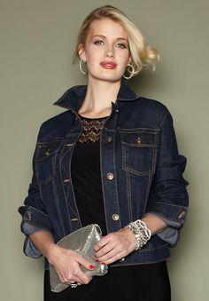 Love Jean jackets~even as dressier
