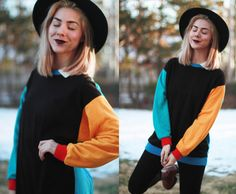 Vintage 1990s small color block sweater / by elizamoonbeamvintage