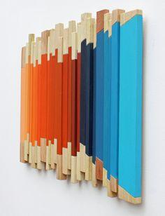 Recorrer Arte de pared de madera Resumen Arte moderno