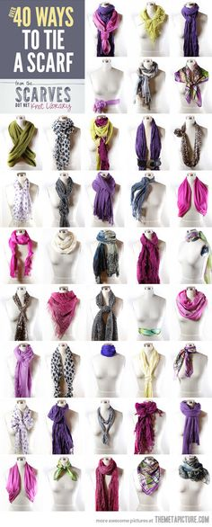 Ways to tie a scarf… For a certain Ms. TBro I know