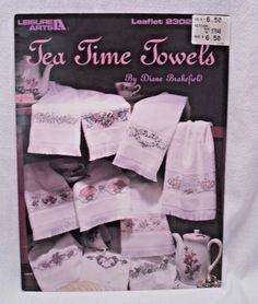 Tea Time Towels 10  Cross Stitch Patterns by Diane Brakefield Leisure Arts #LeisureArts #Border