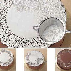 Küche - Backen - für Kuchen- und Tortendekoration mit Puderzucker...