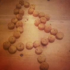 Albero di Natale di biscotti al cioccolato