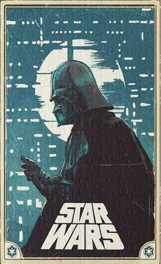 Star Wars - Vintage Movie Poster - 120 Piece Jigsaw Puzzle - Unique Gift - FREE shipping - Ready To