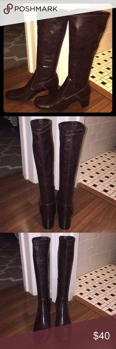 Franco Sarto tall brown boots, size 7.5 Franco Sarto tall brown boots, size 7.5 Almost flawless. #PlywoodAndPearls Franco Sarto Shoes Heeled Boots
