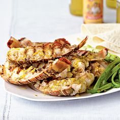 Baja-Style Grilled Rock Lobster Tails from Cooking Light