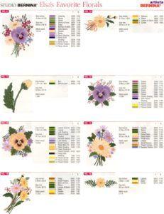 Matrizes grátis- 92 Matrizes com tema Florais (Free embroidery) – L&C Informe