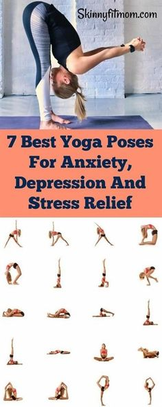 Awesome yoga poses to heal anxiety and depression. Also, get relief from stress. #yoga #stressrelief #YogaPoses #YogaPoses