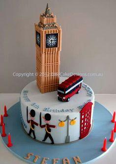 Big Ben UK Theme Novelty Birthday Cake, Novelty Cakes Sydney, Birthday Cakes, London Theme cake designs, Designer Cakes by EliteCakeDesigns British Party, British Cake, 21st Birthday Cakes, Novelty Birthday Cakes, Novelty Cakes, Cake Wrecks, Unique Cakes, Creative Cakes, Fondant Cakes