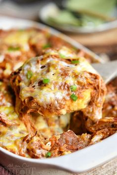 This crowd pleasing recipe is sure to be a hit at your next barbecue or picnic! This Loaded BBQ Pork Potato Casserole is so easy to make and crazy delicious!!
