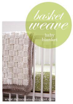 Free crochet pattern - basket weave baby blanket