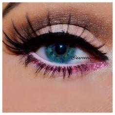 Pink eye liner