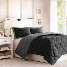 Comfort Classics Windsor Microfiber Reversible Down Alternative Comforter Mini Set with 3M Stain-Resistance Finishing