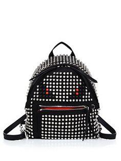 Fendi - Monster Mini Studded Nylon Backpack