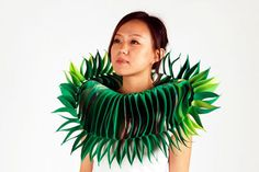 Textile Jewellery by Yu-Ping Lin   Gonna be hard to lean in for that end-of-date kiss if she's wearing this!