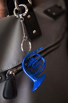 Blue French Horn | HIMYM | Keychain | Ted | Robin | Romance
